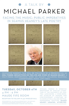 "picture of ""Facing the Music: Public Imperatives in Seamus Heaney's Late Poetry"" / Noli Timere: Reflections on the Life and Work of Seamus Heaney"